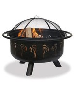 """Uniflame Wood Fire Pit Palm Tree 32"""" Outdoor Patio Deck Fireplace  - $193.99"""