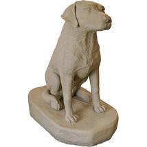 """Sitting Labrador Dog Statue – Natural Sandstone Appearance – Resin – 31"""" - $58.72"""