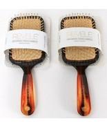 2 Count Revele Tortoiseshell Wide Paddle Hairbrush Ball Tips Styles Buil... - $27.99