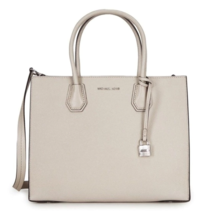 Michael Kors NWT Studio Mercer Convertible Large Tote Cement Grey crossbody - $176.24