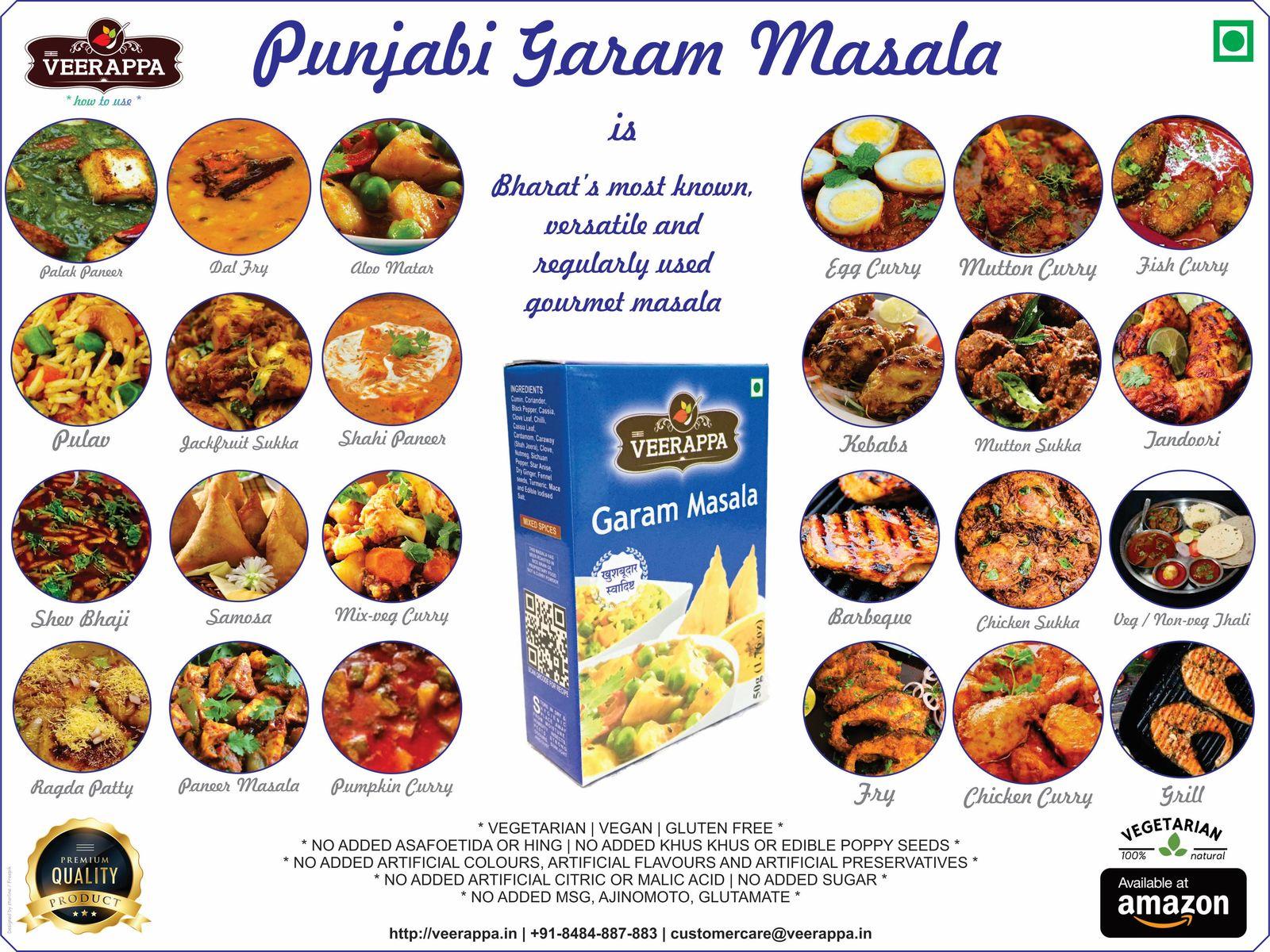 VEERAPPA Garam Masala-200grams-Punjabi Garam Masala