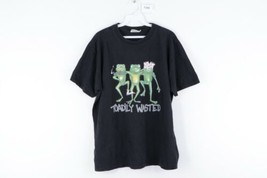 Vintage 90s Streetwear Mens Large Toadily Wasted Frogs Distressed T Shir... - $34.60
