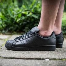 Adidas Originaux Hommes Superstar Baskets Chaussures Cuir Noir - $129.07
