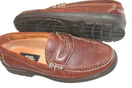 Hush Puppies Size 10 M Penny Loafer Brown Shoes - £22.42 GBP