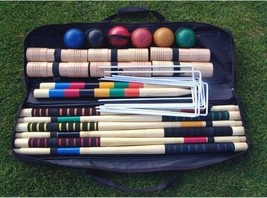 Champions Series Croquet Set, Soft Grip Rubber Handles 2-6 Players Leisu... - $160.37