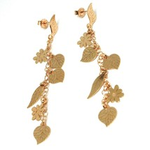 Drop Earrings Silver 925, Leaves, Flowers, Daisies, Woodland, le Favole image 1