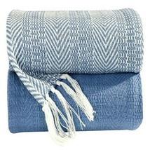 100% Cotton Hand Woven Herringbone All Season Throw Blankets '50x60'' Se... - $34.95