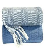 100% Cotton Hand Woven Herringbone All Season Throw Blankets ''x60'' Set of 2 - €22,17 EUR