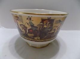 Gorham Bicentennial Ltd Ed Porcelain Truffle Bowl Yankee Doodle Norman Rockwell  - $18.58