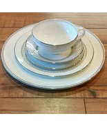 Martha Stewart, WEDGWOOD, French Knot Silver 5-peice Dinnerware set - $45.75
