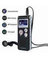 Voice Recorder TOOBOM R01 Digital Voice Activated Recorder - Sound Audio... - $20.02