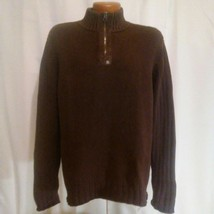 Ralph Lauren Polo Jeans Company Mens Brown Zip Neck Vintage Sweater Extr... - $49.50
