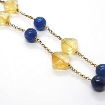 Silver 925 Necklace, Yellow, Citrine, Kyanite, Pendant Cluster image 4