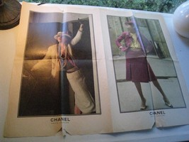 Chanel 1970s Haute Couture LARGE print advertis... - $49.28