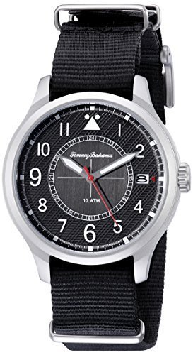 Tommy Bahama  Men's 10018348 Island Scout Analog Display Japanese Quartz Black W