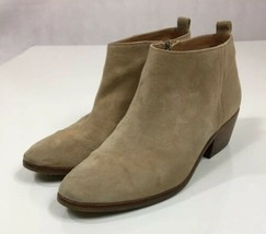 J Crew Style C9868 Tan Suede Side Zip Ankle Fashion Boots Bootie US Size 8.5 - $20.30