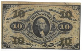 1863 TEN CENT FRACTIONAL CURRENCY NOTE **3rd ISSUE** FREE SHIPPING! - $187.00