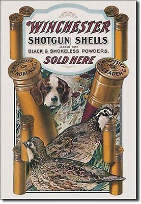 Winchester Shotgun Shells Sold Here Metal Sign Tin New Vintage Style USA #940