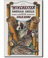 Winchester Shotgun Shells Sold Here Metal Sign Tin New Vintage Style USA... - $10.29
