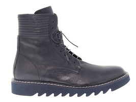 Low boot CESARE PACIOTTI 52256 in navy leather - Men's Shoes - $275.31