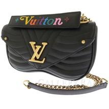LOUIS VUITTON New Wave Chain Bag MM Calf Noir Shoulder Bag M51498 Authentic - $2,134.63