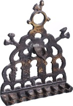 Hanukkah Oil Menorah Bronze North Africa Bird Ornament Decorations Wall Hang image 1