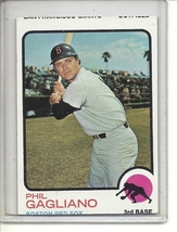 (b-31) 1973 Topps #69: Phil Gagliano - Factory Error - Severe off-set Cut - $12.00