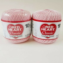 Red Heart Classic Orchid Pink Crochet Thread 2 Skeins Lot Size 10 NEW 300 yds ea - $10.99