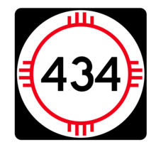 New Mexico State Road 434 Sticker R4184 Highway Sign Road Sign Decal - $1.45+