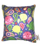 Turtles Pillow Handmade In USA Paisley Turtle Pillow Tortoise Pillow Bri... - $9.99
