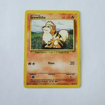 Pokemon Base Set 1999 Growlithe Card HP 28/102 TCG Trading Card Game Unlimited - $0.99