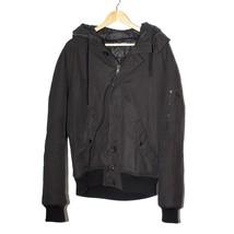 Dolce&Gabbana Black Hooded Puffer Jacket Long Sleeve Zip Up Outwear Sz 2... - $420.44