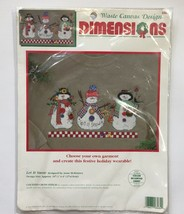 Dimensions Let it Snow Snowman Waste Canvas Design Counted Cross Stitch ... - $14.46