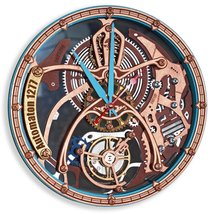 Automaton 1277 Tourbillon wall clock Handcrafted Steampunk Moving Gears ... - $138.00