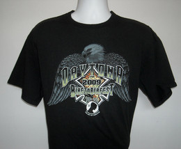 Mens Daytona 2009 Biketoberfest Motorcycle T Shirt Xlarge Pow Mia Eagle Logo - $22.72