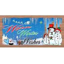 Christmas Wood Signs  -GS 1466- Snowman Plaque - €7,63 EUR+