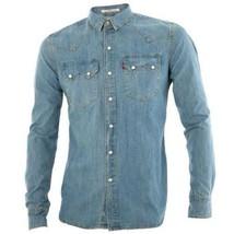 NEW LEVI'S MEN'S CLASSIC LONG SLEEVE DENIM BUTTON UP CASUAL DRESS SHIRT 81004