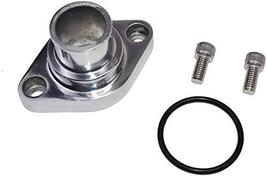 A-Team Performance Water Neck Thermostat Housing Straight Up Style Polished Comp image 3