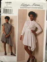 Vogue V9186 Kathryn Brenne Designer Original Dress Pattern Uncut Sizes X... - $22.51