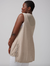 Lane Bryant Sweater Vest with Lace Up Sides  22/24 Womens Plus Lightweig... - $23.97