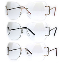 Womens Clear Lens Butterfly Rimless Ironic Granny Eye Glasses - $12.95