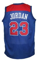 Michael Jordan #23 Baltimore Washigton Retro Basketball Jersey New Blue Any Size image 5