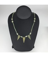 "12.6g,2mm-29mm, Small Green Nephrite Jade Arrowhead Beaded Necklace,19"",... - $4.75"
