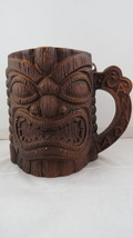 Vintage Tiki Mug - Mug Fierce Ku and Maple Leaf Back - Banff Canada Souvenir - $35.00