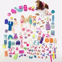 Polly Pocket Lot Dolls Horse Dog Fish Clothes Shoes Accessories Bundle 2003 - $29.60