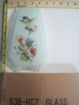 FREE US SHIP OK Touch Lamp Replacement Glass Panel Flowers Humming Bird ... - $9.75