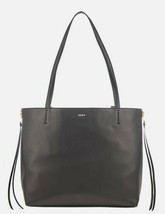 DKNY NWT East West Reversible XL Tote Shoulder Zip-Down Black & Red Leather - $117.35