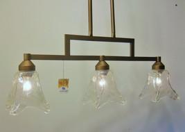 Rustic Clear Glass Kitchen Linear Island Light Bronze Finish Kichler Lighting - $153.84
