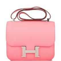 Hermes Constance 24 Rose Azalee Pink Bag Palladium New 19th year eBay - $11,875.05