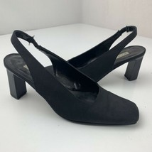 Bandolino Square Toe Black Strap High Heels Size 6.5 M Women's Shoes - $12.87